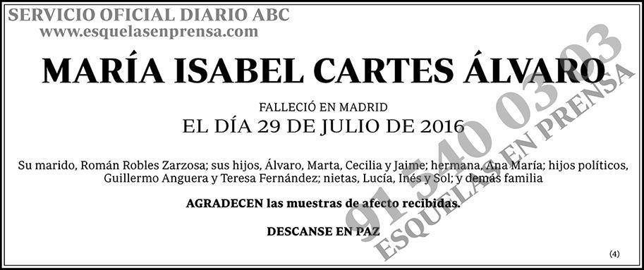 María Isabel Cartes Álvaro
